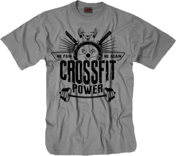Спортивная футболка CROSSFIT в сером цвете