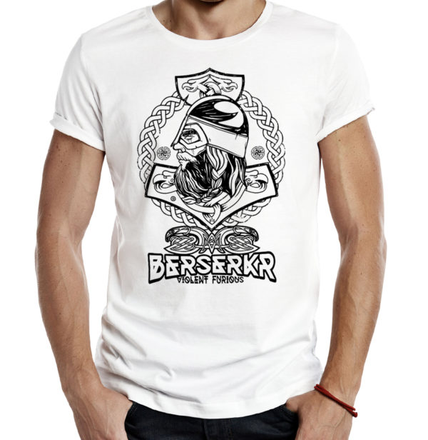 Милитари футболка BERSERKR белая