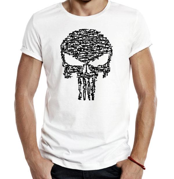 Милитари футболка PUNISHER КАРАТЕЛЬ белая