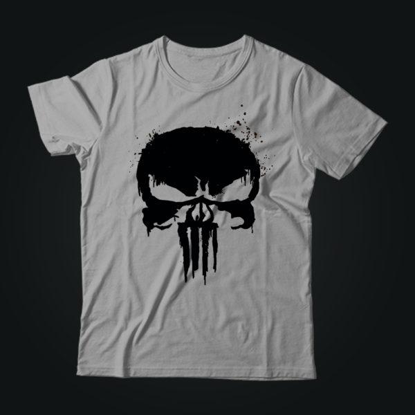 Милитари футболка PUNISHER серая