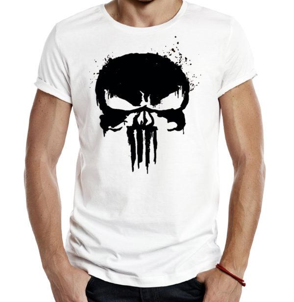 Милитари футболка PUNISHER белая