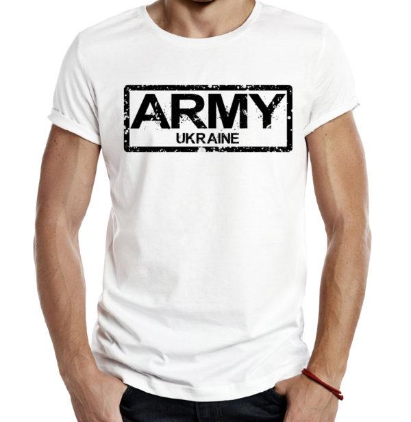 Милитари футболка ARMY UKRAINE белая