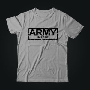 Милитари футболка ARMY UKRAINE серая