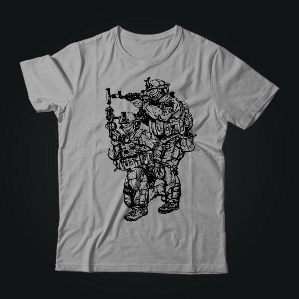 Милитари футболка SF SPECIAL серая