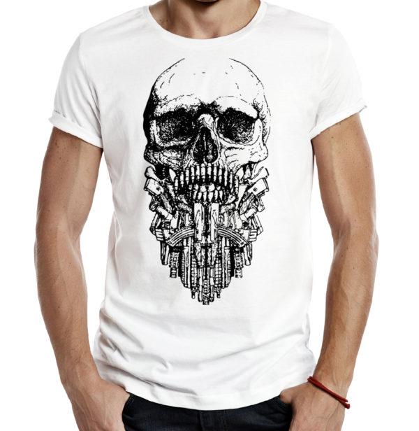 Милитари футболка TACTICAL BEARD белая