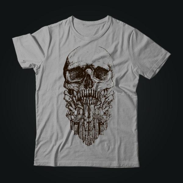 Милитари футболка TACTICAL BEARD серая