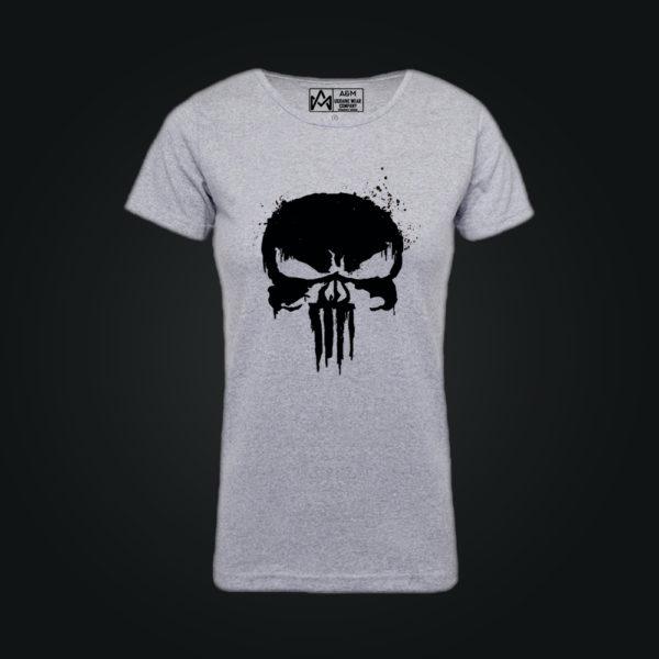 Женская футболка PUNISHER серая