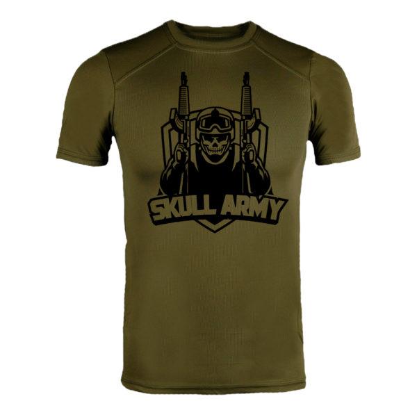 Футболка CoolMax SKULL ARMY олива