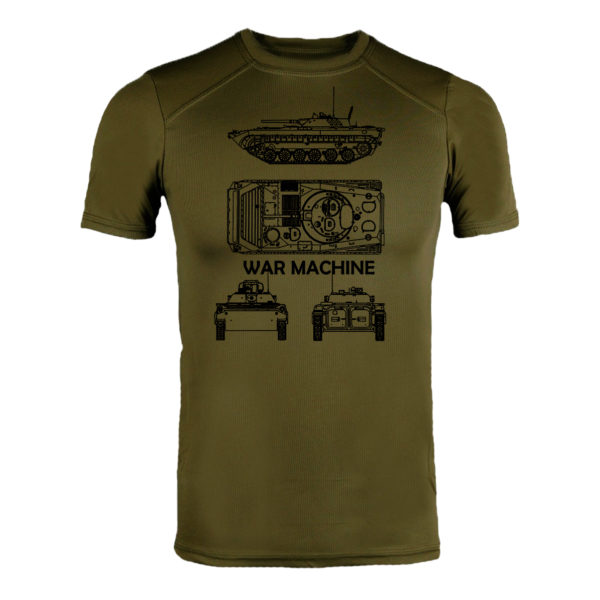 Футболка CoolMax БМП WAR MACHINE олива