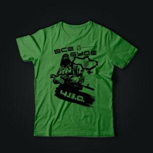 Милитари футболка ВСЕ БУДЕ 4.5.0 олива