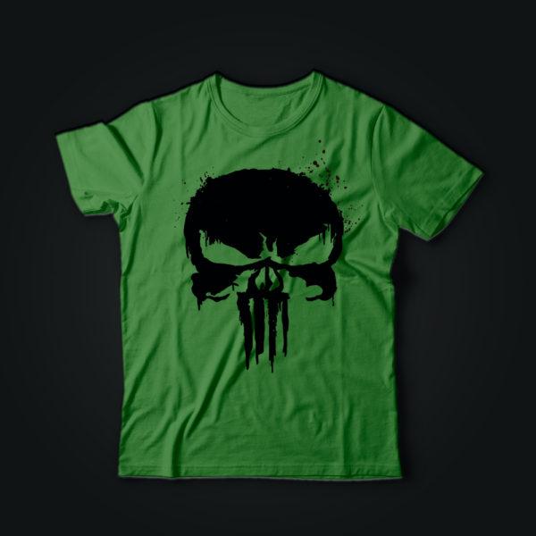 Милитари футболка PUNISHER олива