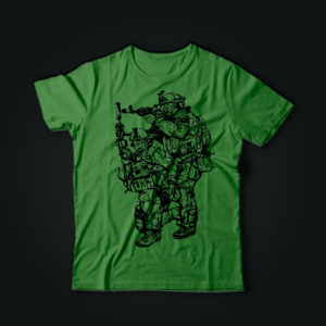 Милитари футболка ЦСО олива