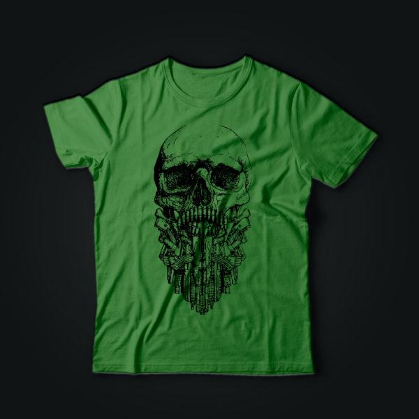 Патриотическая футболка BEARD олива