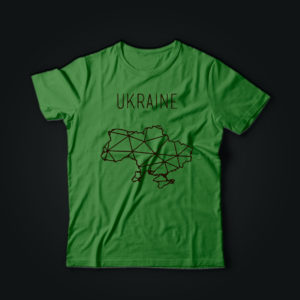Милитари футболка УКРАЇНА олива