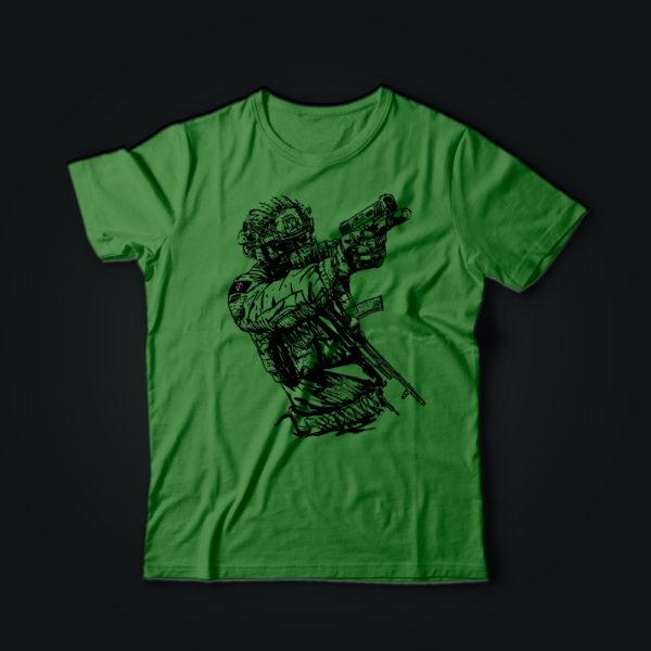 Милитари футболка SOLDIER Ukraine олива