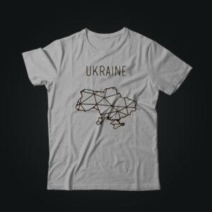 Милитари футболка UKRAINE серая