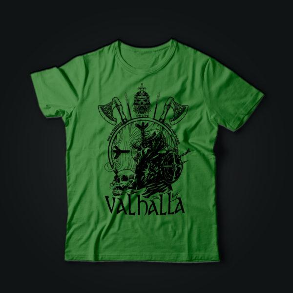 Милитари футболка VALHALLA олива