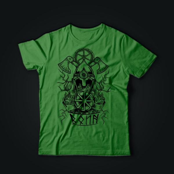 Милитари футболка ВОИН олива