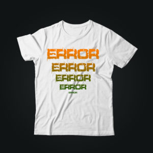 Мужская футболка casual ERROR