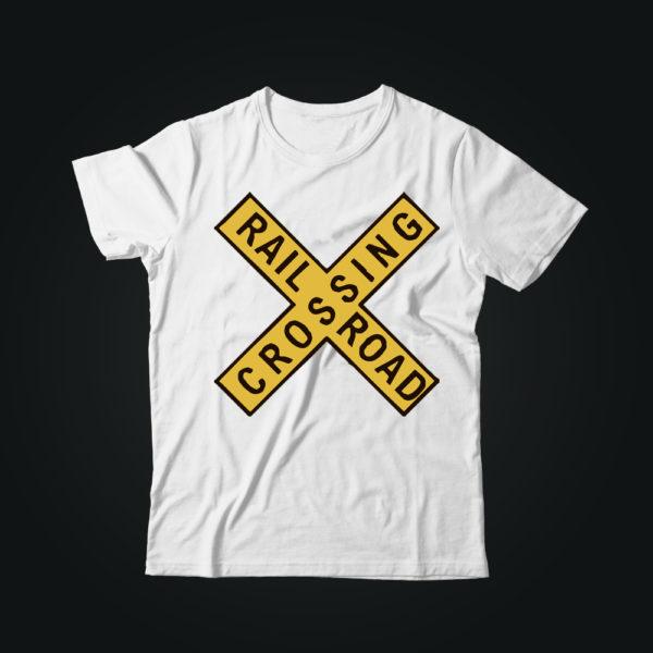 Мужская футболка с принтом RAIL CROSSING