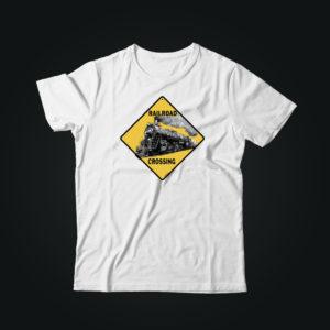 Мужская футболка с принтом TRAIN