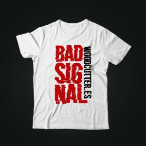 Мужская футболка с принтом BAD SIGNAL