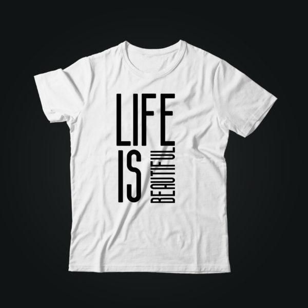 Мужская футболка с принтом LIFE