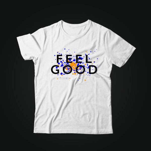 Мужская футболка с принтом FEEL GOOD