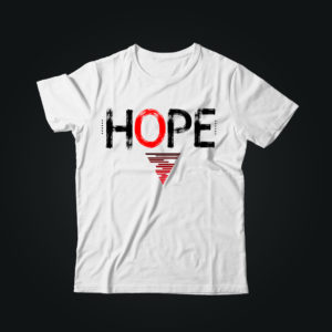 Мужская футболка с принтом HOPE
