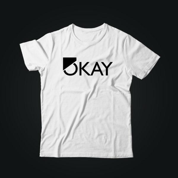 Мужская футболка с принтом OKAY