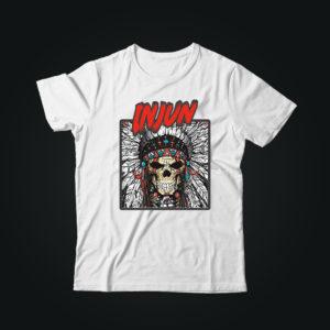 Мужская футболка с принтом INJUN