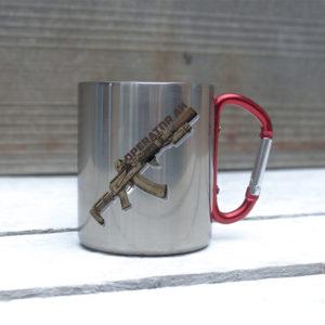 Железная кружка с карабином AK SPECIALIST