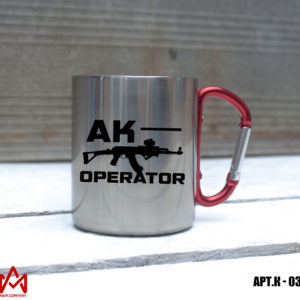 Железная кружка с карабином AK