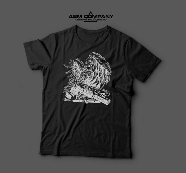 Мужская футболка черная EAGLE