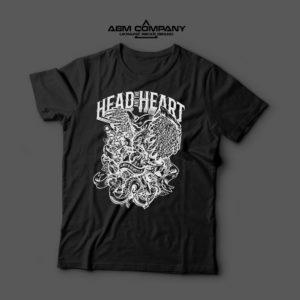 Мужская футболка черная HEAD & HEART