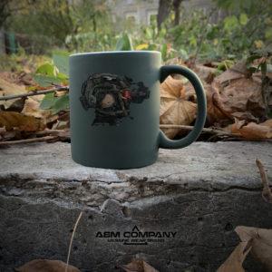 Чашка хамелеон олива с рисунком SPECIAL FORCES