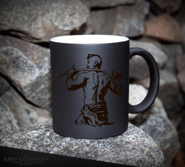 Чашка хамелеон черная КОЗАЧЕ