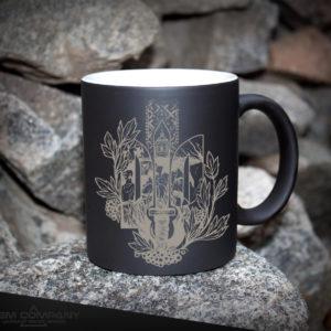 Чашка хамелеон черная ТРИЗУБ