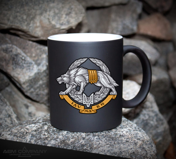 Чашка хамелеон черная ССО