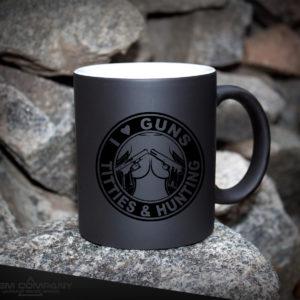 Чашка хамелеон черная GUNS