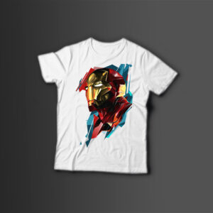 Мужская футболка с принтом IRON MAN MARVEL