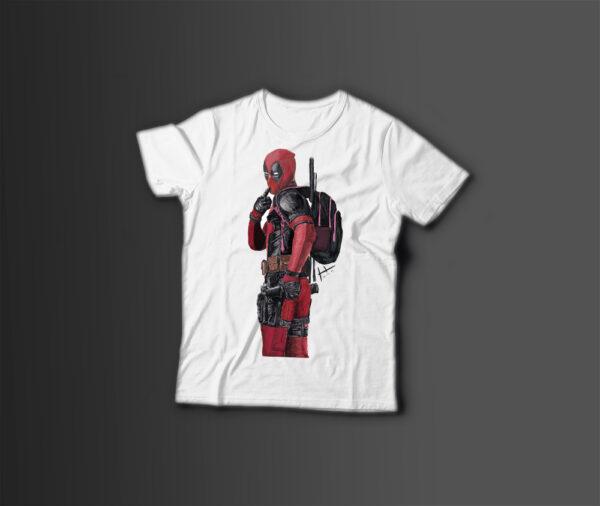 Мужская футболка с принтом DEADPOOL MARVEL