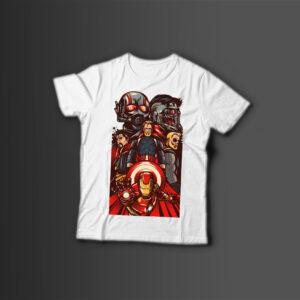 Мужская футболка с принтом COMICS MARVEL