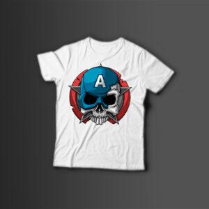Мужская футболка с принтом CAPTAIN — A