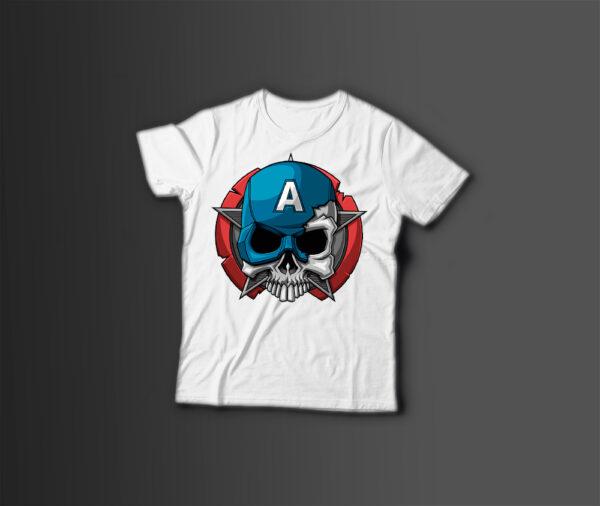 Мужская футболка с принтом CAPTAIN - A