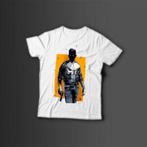 Мужская футболка с принтом PUNISHER