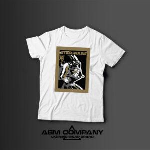 Мужская футболка с принтом STARS WARS