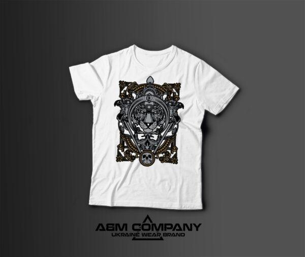 Мужская футболка с принтом LION