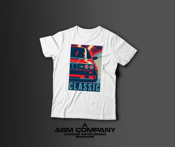 Мужская футболка с принтом BMW CLASSIC