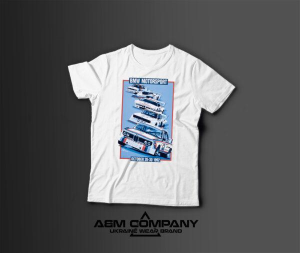 Мужская футболка с принтом BMW HISTORY